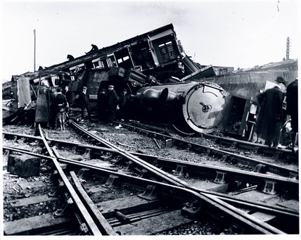 The aftermath of a serious accident, Shropshire, 15 October 1907.