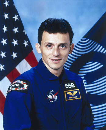 Pedro Duque, ESA astronaut, September 1996.