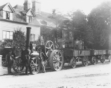 Aveling and Porter steam traction engine, c 1890.