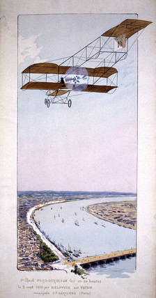 Bielovucic in Voisin monoplane in Paris-Bordeaux race, 1910.