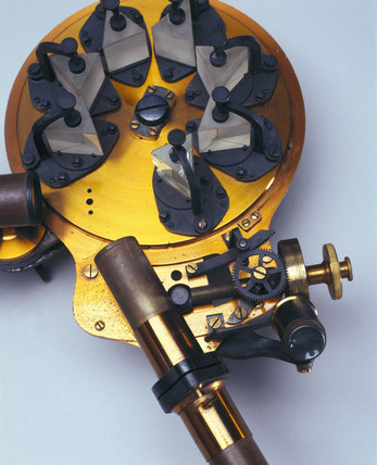 Spectroscope with seven prism train, 1868.