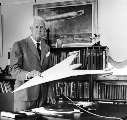 Sir Barnes Neville Wallis, aeronautical designer and inventor, 1965.