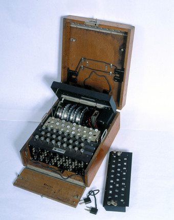 Four-rotor German Naval Enigma cypher machine, MK 4, 1942.