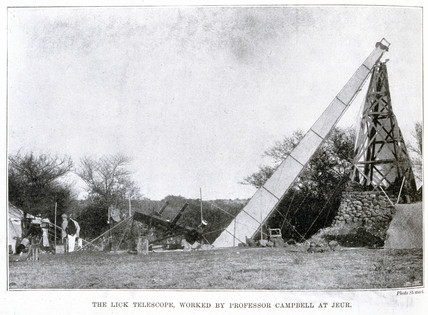 The Lick Telescope, Jeur, India, 1898.