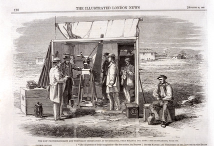 The Kew Photoheliograph and Temporary Observatory, Spain, 1860.