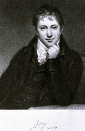 Sir Humphry Davy, English chemist, 1801.