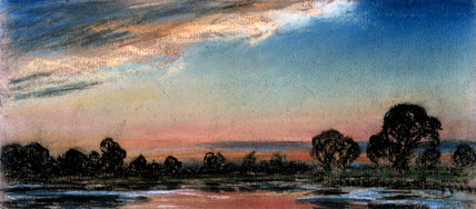 Afterglow an hour after official sunset time, Chelsea, London, 14 July 1886.