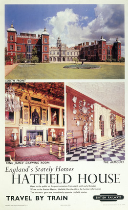 'Hatfield House - England's Stately Homes', BR poster, 1965.