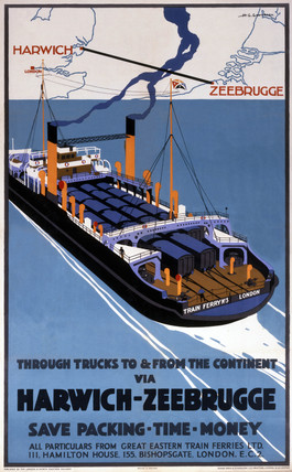 'Through Trucks to & from the Continent...', LNER poster, 1930.