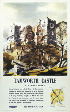 'Tamworth Castle', 1965. British Railways p