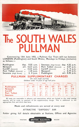'The South Wales Pullman', BR poster, 1955.