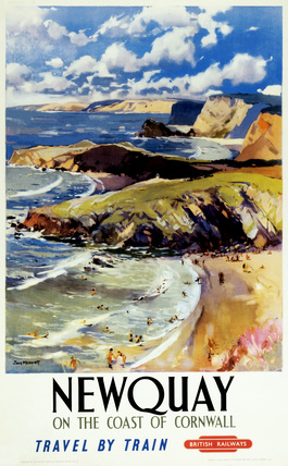 'Newquay - On the Coast of Cornwall', 1950.