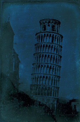 'Pisa, The Leaning Tower, from the gras plot, West of the Tower', 25 June 1841.
