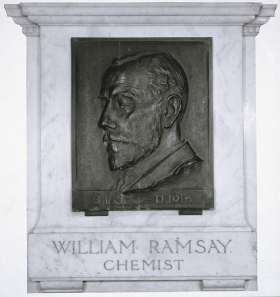 Sir William Ramsay, Scottish chemist , c 1910.