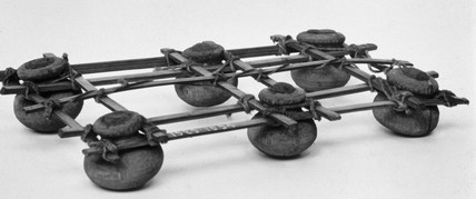 A Gharnai (a raft of pots) from the Gaya River, near Patna, India, c 1851-1929.