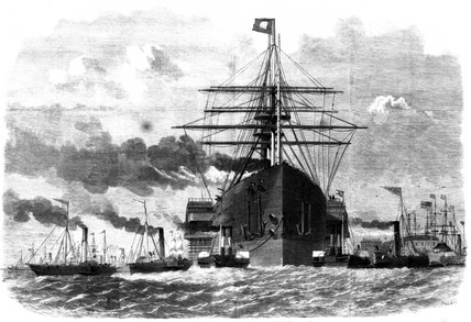 'Great Eastern' rounding point opposite Blackwall, 1859.
