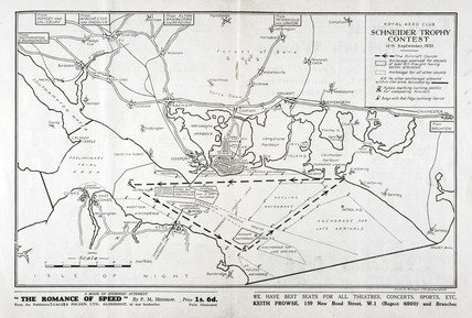 Route of the Schneider Trophy contest, Hampshire, September 1931.
