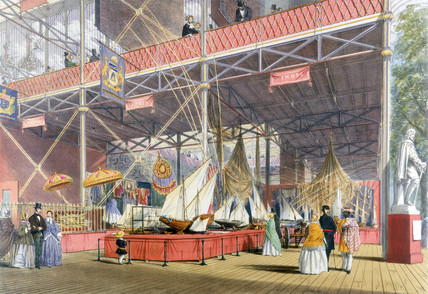 Area representing India at the Great Exhibition, Crystal Palace, London, 1851.
