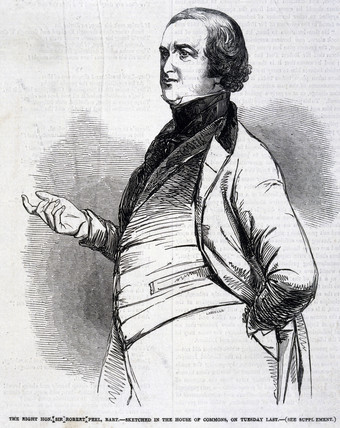 Sir Robert Peel, English politician, 1846.