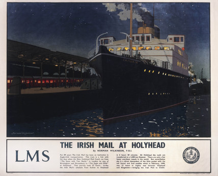 'The Irish Mail at Holyhead', c 1925.