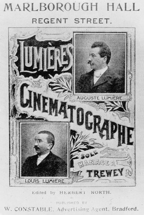 Lumiere brothers advertisement, c 1896.