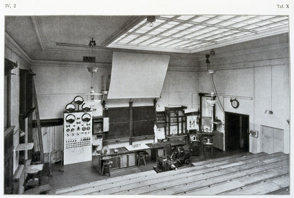 Lecture theatre, University of Leipzig, Germany, 1909.