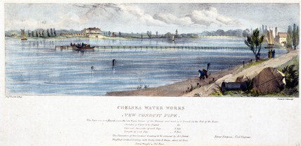 'Chelsea Water Works, New Conduit Pipe', mid 19th century.