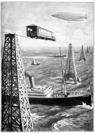 'Presently the English Channel was bridged', 1908.