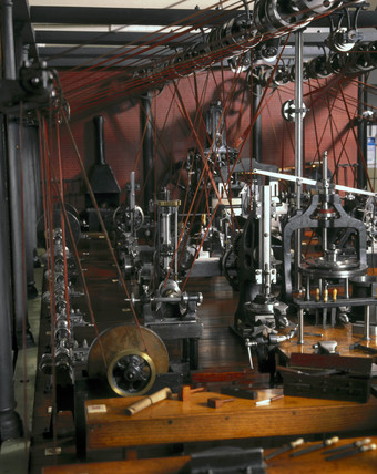 Machine workshop, model, c 1850-1880.