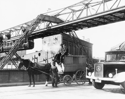 The 'flying train', overhead railway, Wuppe