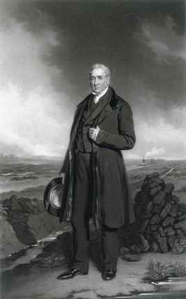 George Stephenson, English railway engineer, c 1830.