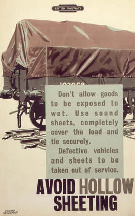 'Avoid hollow sheeting', BR staff poster, 1960.
