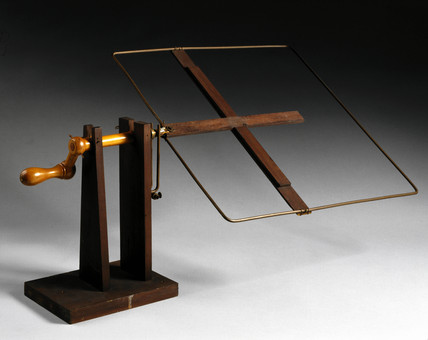 Replica of Faraday's earth inductor, 1851.