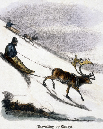 'Travelling by Sledge', c 1845.