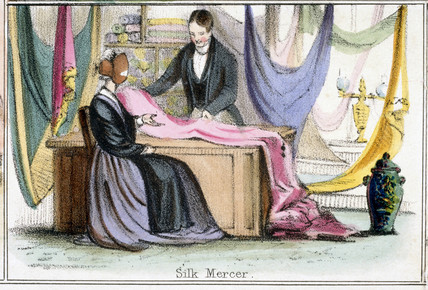 'Silk Mercer', c 1845.