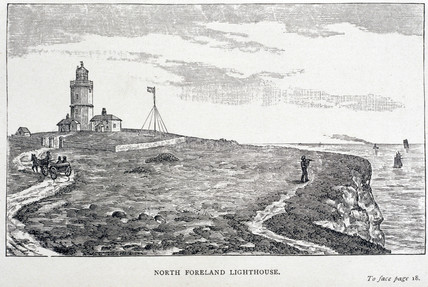 'North Foreland Lighthouse', Kent, 1884.