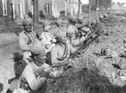 Indian Infantry Division in their trenches