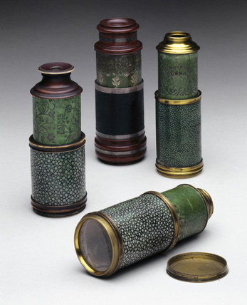 Selection of four opera or prospect glases, 1749-1773.