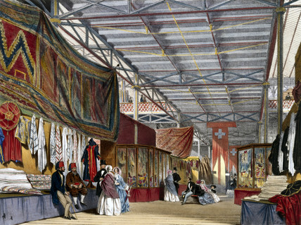 Tunisian No 2 stand at the Great Exhibition, Crystal Palace, London, 1851.