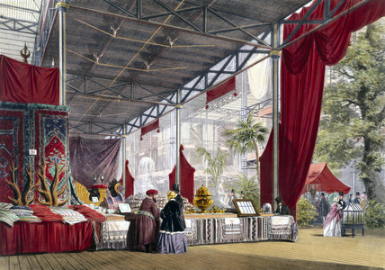Turkish No 1 stand at the Great Exhibition, Crystal Palace, London, 1851.
