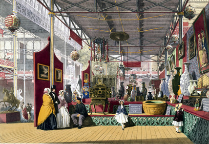 Chinese stand at the Great Exhibition, Crystal Palace, London, 1851.