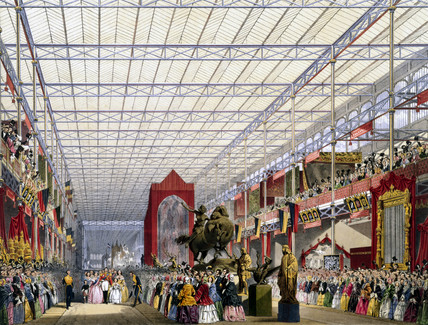 Foreign nave at the Great Exhibition, Crystal Palace, London, 1851.