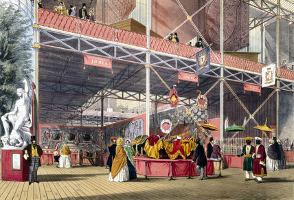 Indian No 2 stand at the Great Exhibition, Crystal Palace, London, 1851.