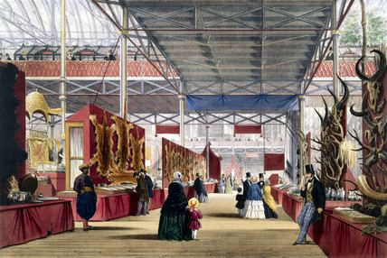 Indian No 6 stand at the Great Exhibition, Crystal Palace, 1851.