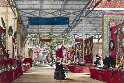 Indian No 7 stand at the Great Exhibition, Crystal Palace, London, 1851.