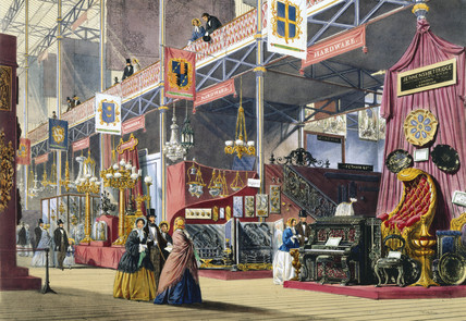 Hardware at the Great Exhibition, Crystal Palace, London, 1851.