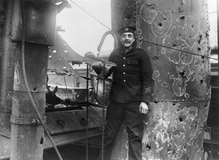 Private James Shirwell following the Zeebrugge Raid, 1918.