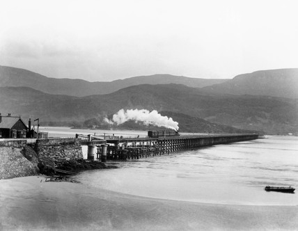 Barmouth Bridge, c 1890.