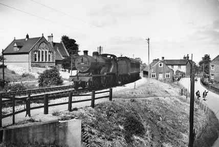 Steam locomotive entering Templecombe, 6 Ju
