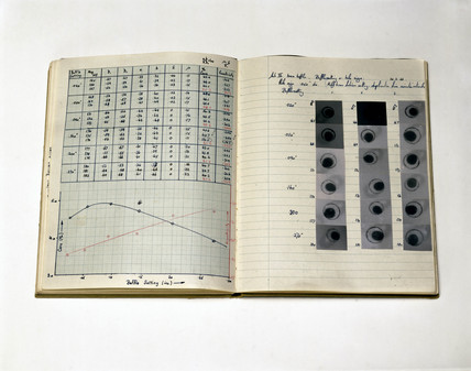 Laboratory notebook, c 1960s.